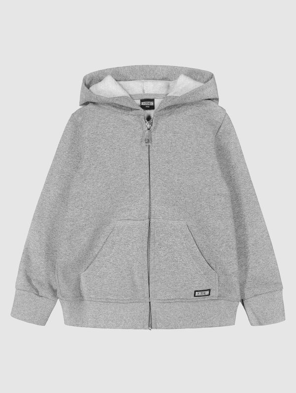 Children's Zip Hoodie light melange grey