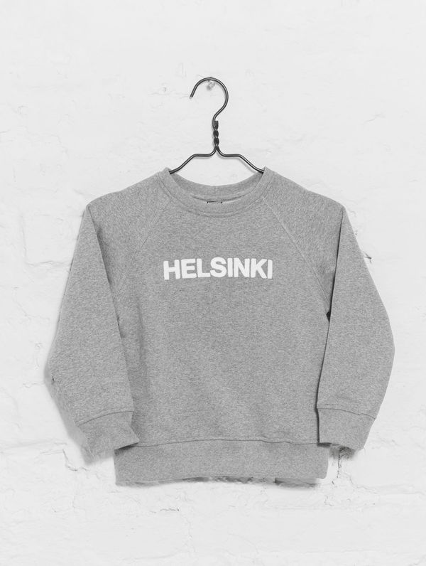 Children's City Sweatshirt light grey melange / white Helsinki