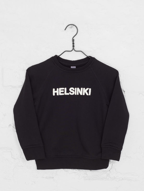 Children's City Sweatshirt black / white Helsinki