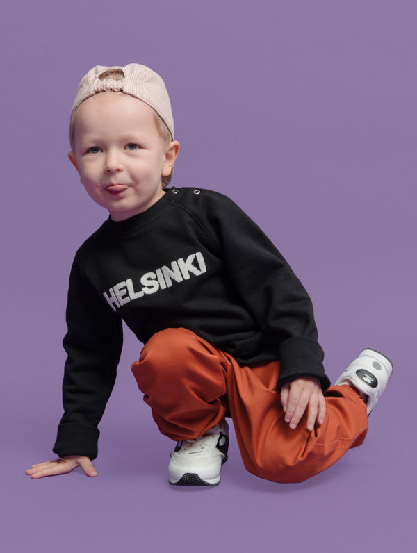 Children's Mini City Sweatshirt black / white Helsinki