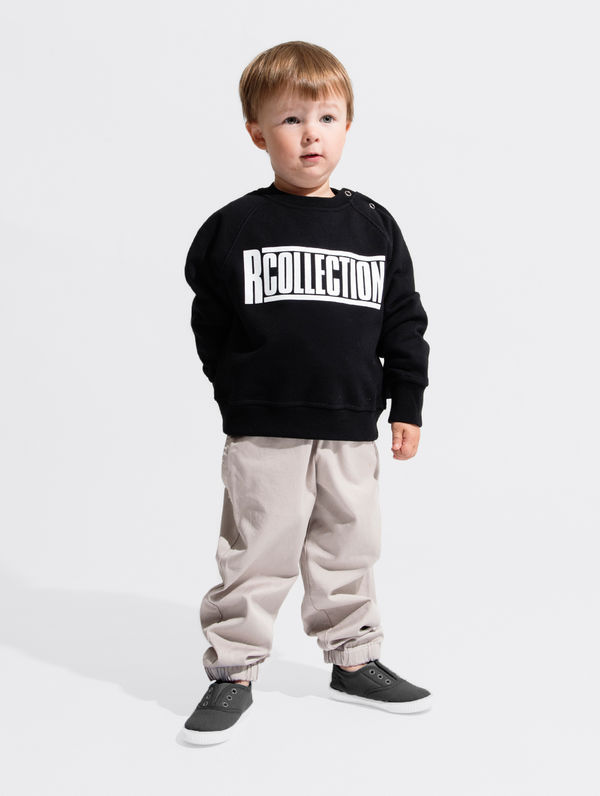 R-Collection Children's Mini Sweatshirt white logo