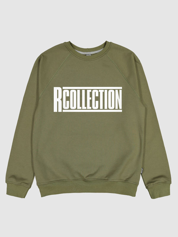 Logo Sweatshirt moss green / white RC