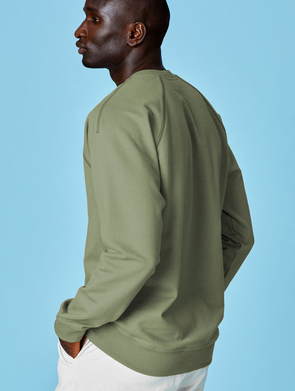 Sweatshirt light moss green