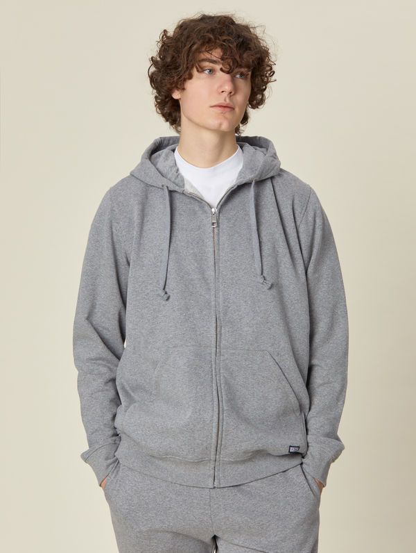 Zip Hoodie light melange grey