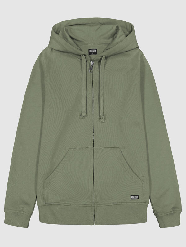 Zip Hoodie light moss green