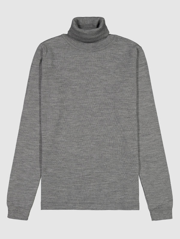 Women's Merino Turtleneck light grey melange