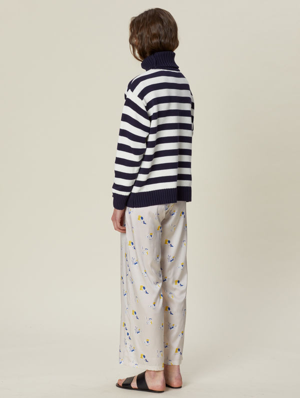Majakka Sweater dark blue / white stripe