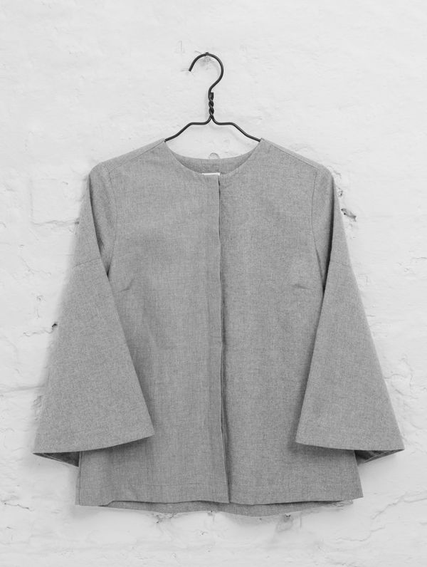 Viena Blouse light melange grey