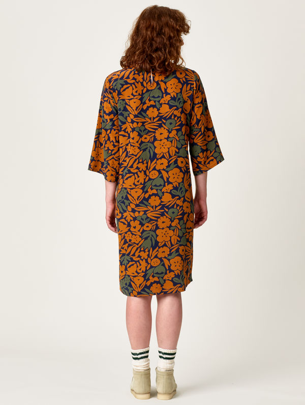Leinikki Dress orange leinikki print