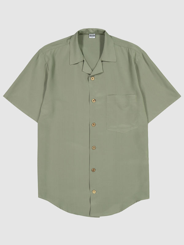 Oliver Silk Shirt light moss green