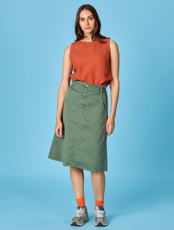 Anorak Skirt light moss green