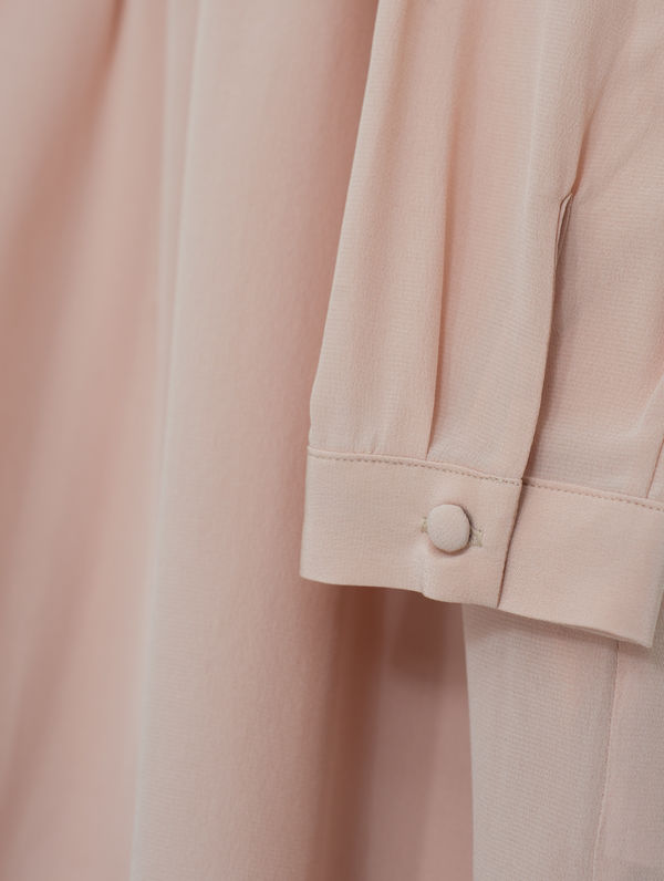 Lucy Silk Dress peach