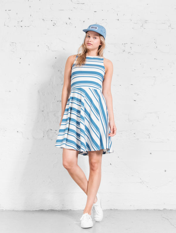 Olivia Striped Dress provence blue / white stripe