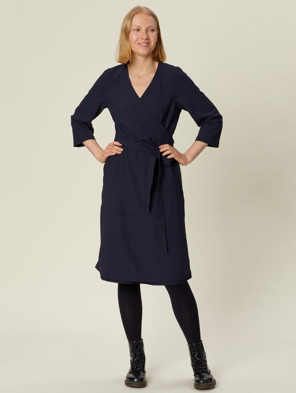 Wrap Dress dark blue