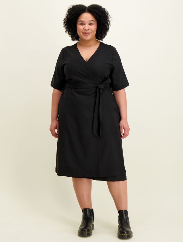 Silja Wrap Dress black