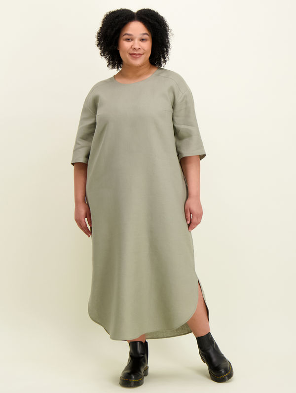 Elisa Linen Dress light moss green