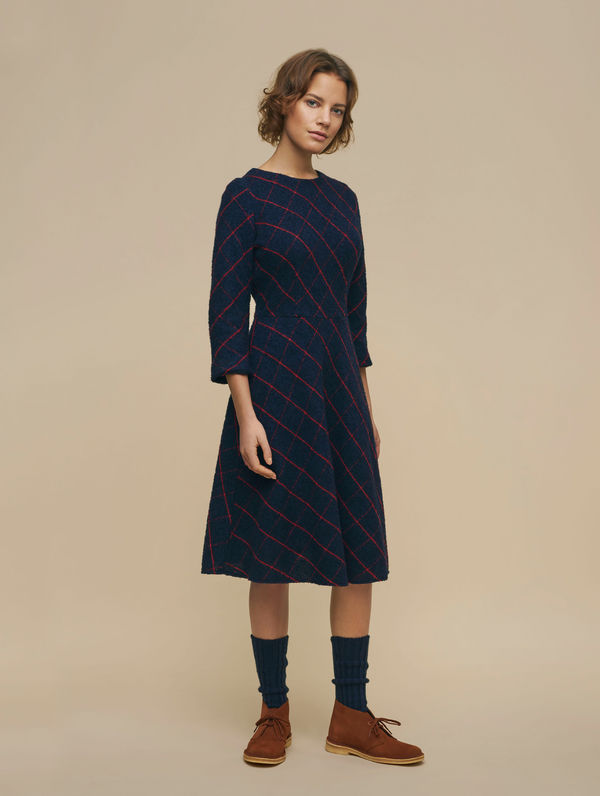Seela Dress blue/red check