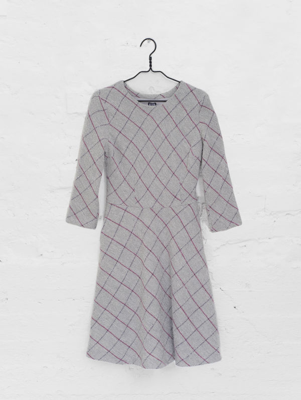 Seela Dress grey/plum check