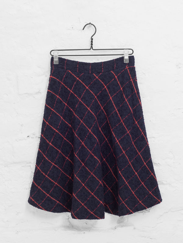 Seela Skirt blue/red check