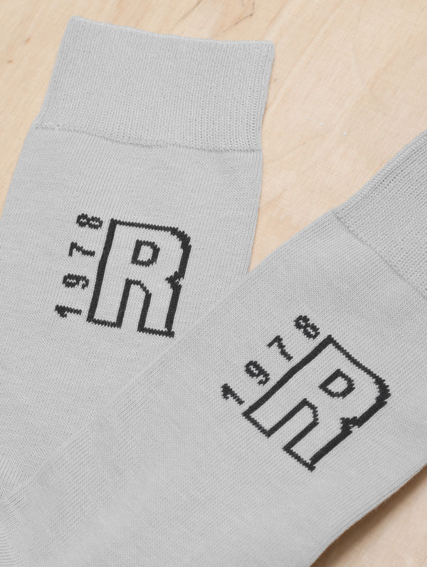 R-Collection Cotton Socks light grey melange