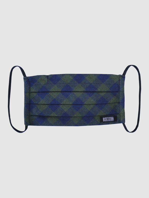 Cloth Face Cover green/blue check