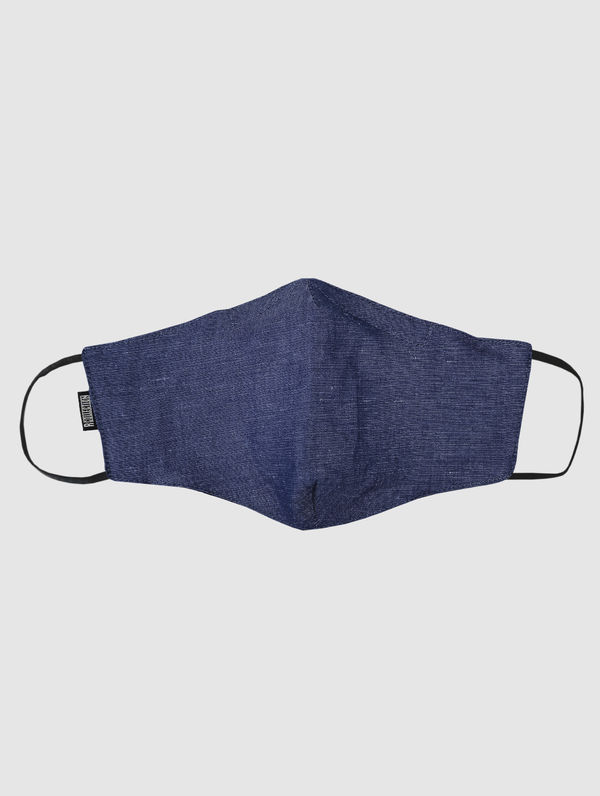 Shaped Cloth Face Cover denim blue
