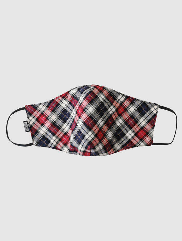 Shaped Cloth Face Cover blue/red/white check