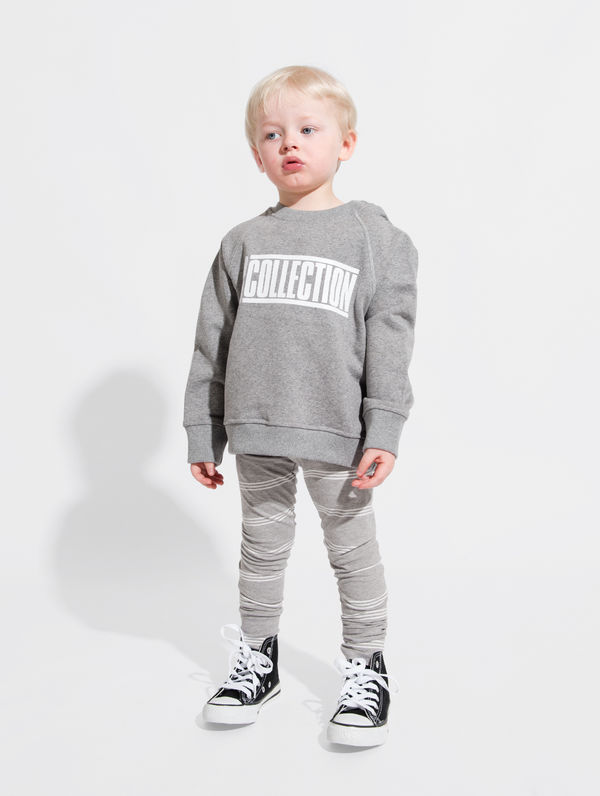Children's Sweatshirt light grey melange / white R-Collection