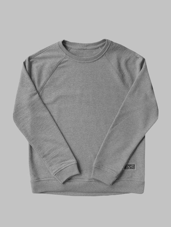 Recycled Sweatshirt light melange grey