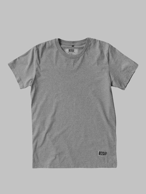 Recycled T-Shirt (regular fit) light melange grey