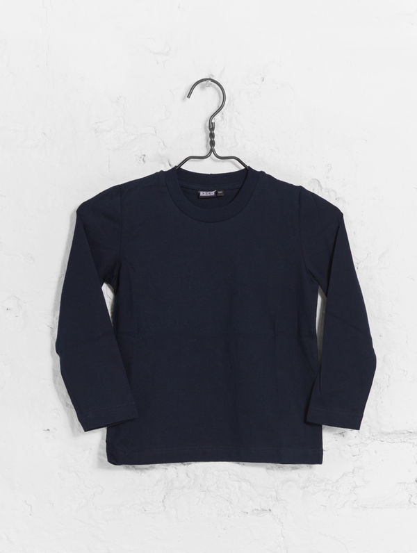 Children's Long-Sleeved T-Shirt dark blue