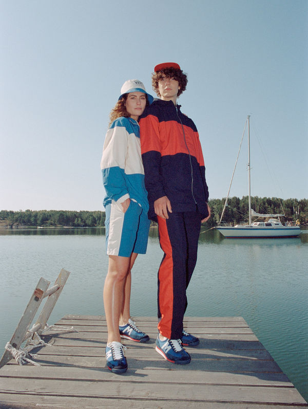 Sport Line Pants tomato / ink blue